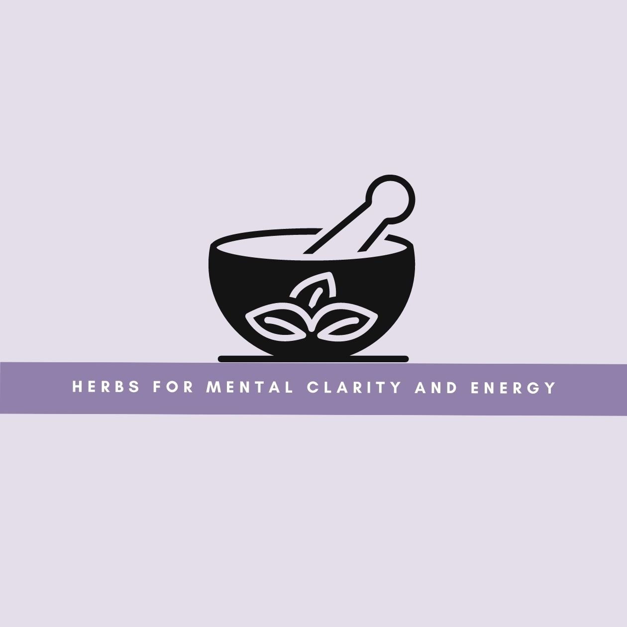 Herbs for mental clarity and energy: an illustration